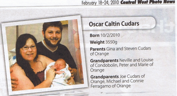 Oscar, Gina and Steven in the Central West Photo News