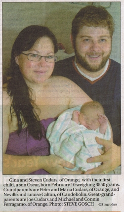 Gina, Steven and Oscar in the Central Western Daily